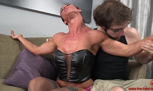 Sexy athletic slutwife and the slim chap