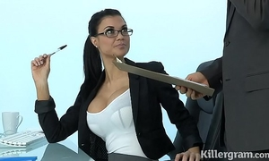 Sexy milf jasmine jae plays the office doxy addicted to hard dick