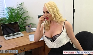 Blonde victoria summers ride wang in the office