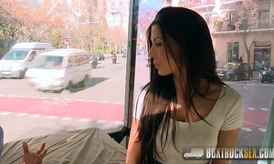 Amazing alexa tomas makes specie stripping off her raiment in public